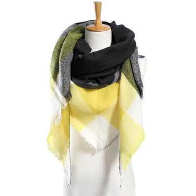 Outlet Appeal 16 Winter Scarf Women Plaid Scarf Designer Triangle Cashmere Shawls Women's Scarves Dropshipping VS051