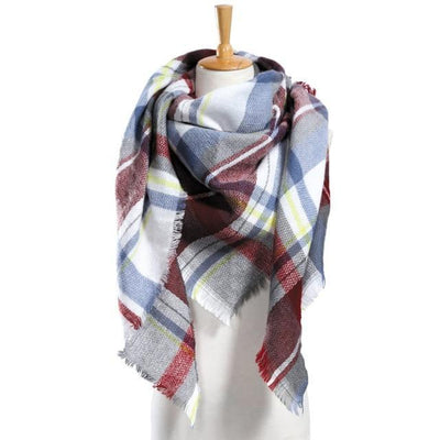Outlet Appeal 17 Winter Scarf Women Plaid Scarf Designer Triangle Cashmere Shawls Women's Scarves Dropshipping VS051