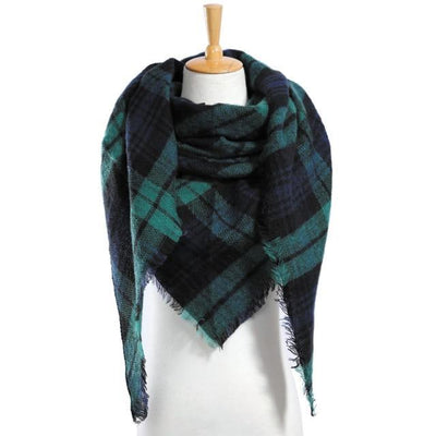 Outlet Appeal 18 Winter Scarf Women Plaid Scarf Designer Triangle Cashmere Shawls Women's Scarves Dropshipping VS051