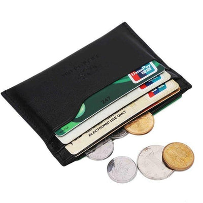 Outlet Appeal 1B BISON DENIM Leather Men Wallets Cowhide Coin Purse Small Credit&id Card Holders