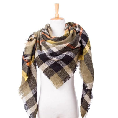 Outlet Appeal 20 Winter Scarf Women Plaid Scarf Designer Triangle Cashmere Shawls Women's Scarves Dropshipping VS051