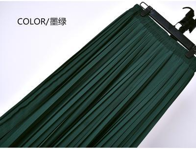 Outlet Appeal 21 / S 22 Colors Super Pleated Chiffon Elastic Waistband Mid-Calf to Ankle-Length Skirt