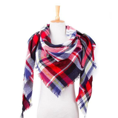Outlet Appeal 21 Winter Scarf Women Plaid Scarf Designer Triangle Cashmere Shawls Women's Scarves Dropshipping VS051