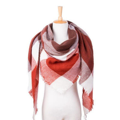 Outlet Appeal 23 Winter Scarf Women Plaid Scarf Designer Triangle Cashmere Shawls Women's Scarves Dropshipping VS051