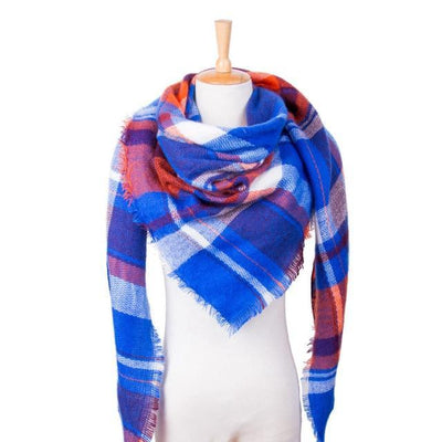 Outlet Appeal 24 Winter Scarf Women Plaid Scarf Designer Triangle Cashmere Shawls Women's Scarves Dropshipping VS051