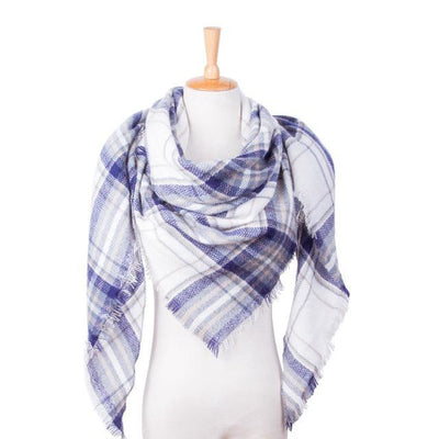 Outlet Appeal 25 Winter Scarf Women Plaid Scarf Designer Triangle Cashmere Shawls Women's Scarves Dropshipping VS051