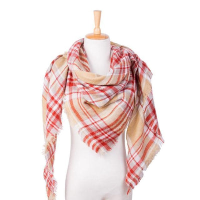 Outlet Appeal 26 Winter Scarf Women Plaid Scarf Designer Triangle Cashmere Shawls Women's Scarves Dropshipping VS051