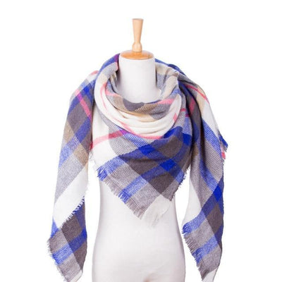Outlet Appeal 27 Winter Scarf Women Plaid Scarf Designer Triangle Cashmere Shawls Women's Scarves Dropshipping VS051