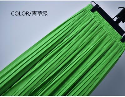 Outlet Appeal 3 / S 22 Colors Super Pleated Chiffon Elastic Waistband Mid-Calf to Ankle-Length Skirt