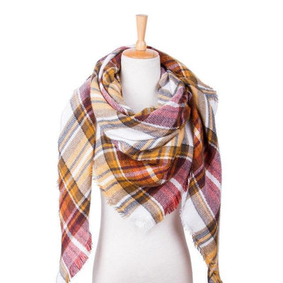 Outlet Appeal 30 Winter Scarf Women Plaid Scarf Designer Triangle Cashmere Shawls Women's Scarves Dropshipping VS051