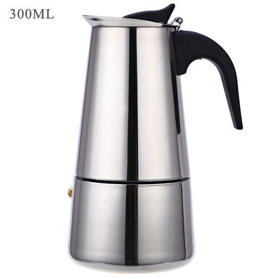 Outlet Appeal 300ML Stainless Steel Coffee Maker Mocha Espresso Latte Stovetop Filter Pot 100ML - 400ML Percolator
