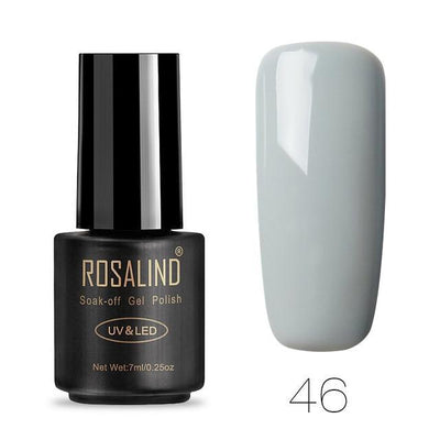 Outlet Appeal 46 ROSALIND UV Cured Nail Gel Soak Off Nail Art Single 7ml Bottle - 28 Colors (31 - 58) with Top and Base Coat Available
