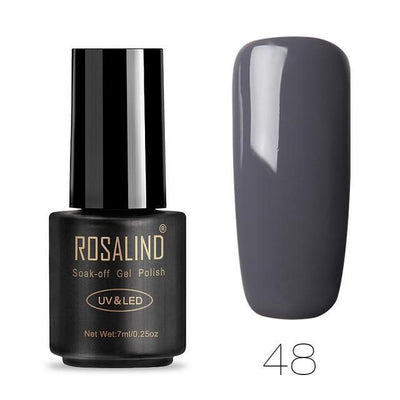 Outlet Appeal 48 ROSALIND UV Cured Nail Gel Soak Off Nail Art Single 7ml Bottle - 28 Colors (31 - 58) with Top and Base Coat Available