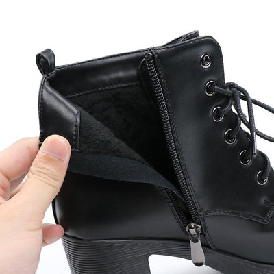 Platform High Heel Ankle Boots