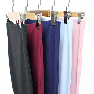 Outlet Appeal 5 Colors Slim Open Slit Chiffon Knee-Length Midi Pencil Skirt