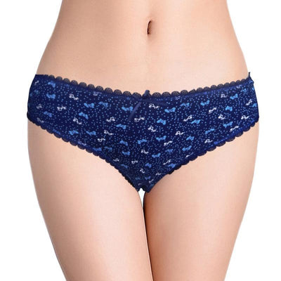Outlet Appeal 6 Pairs/Pack 6 Colors Women's Floral Printed Cotton Briefs Panties