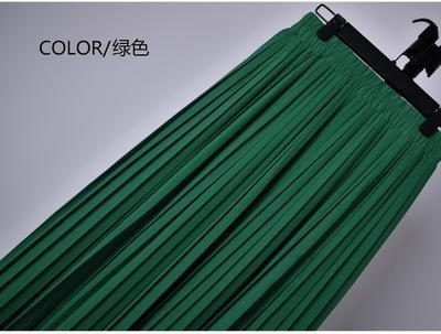 Outlet Appeal 6 / S 22 Colors Super Pleated Chiffon Elastic Waistband Mid-Calf to Ankle-Length Skirt