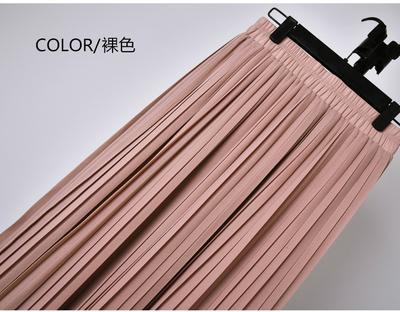 Outlet Appeal 7 / S 22 Colors Super Pleated Chiffon Elastic Waistband Mid-Calf to Ankle-Length Skirt