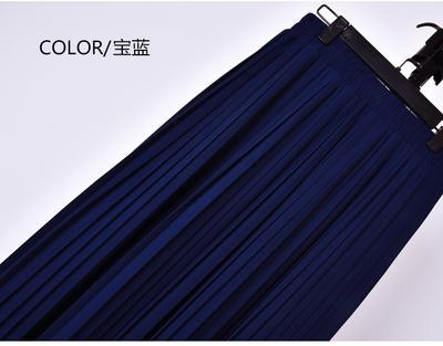 Outlet Appeal 8 / S 22 Colors Super Pleated Chiffon Elastic Waistband Mid-Calf to Ankle-Length Skirt