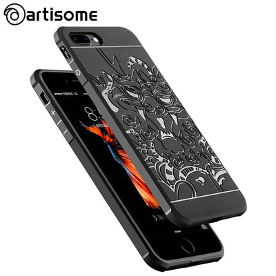 Outlet Appeal ARTISOME Dragon Pattern Case For iPhone 7 Soft Silicone