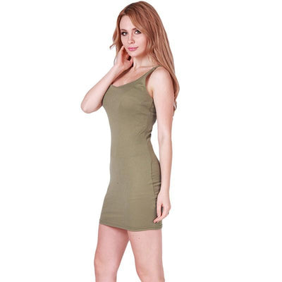 Outlet Appeal Basic Sleeveless Slim Backless Dress - 7 Colors - XS-5XL