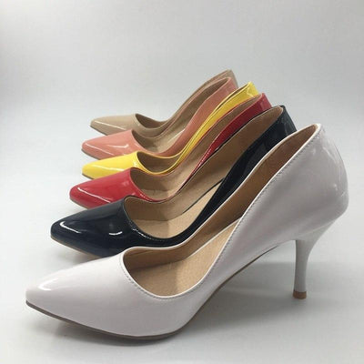 Classic High Thin Heel Pumps