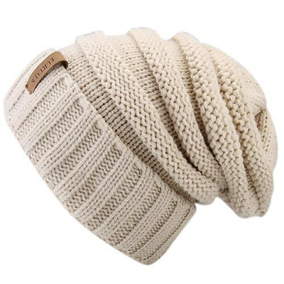 Outlet Appeal beige Women's Winter Knitted Slouchy Beanie Hat