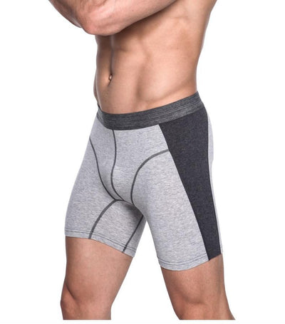 Men's Long Cotton Boxer Briefs Underwear
