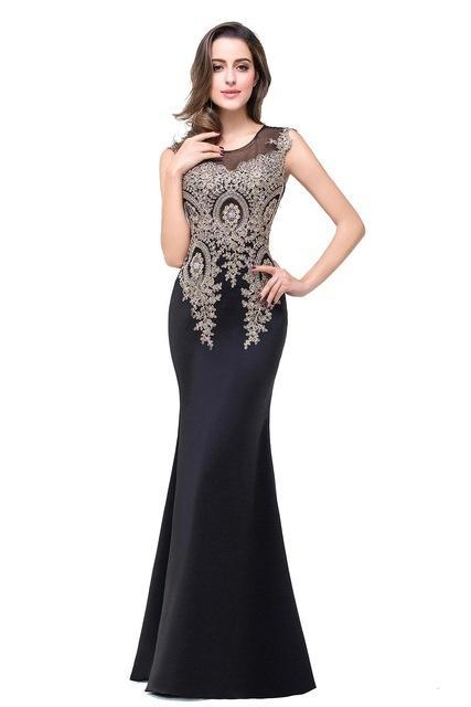9470e817b369 Outlet Appeal Black / 2 Lace Mermaid Prom Dresses Long Embroidery Evening  Party Dress