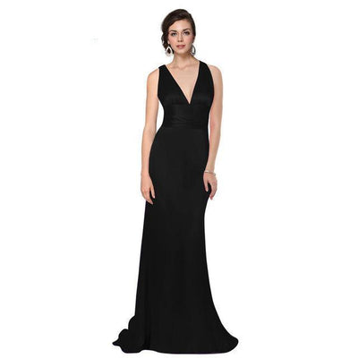 Outlet Appeal Black / 4 Evening Dresses Ever-Pretty Elegant V Neck Long Formal Special Occasions