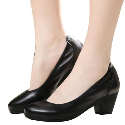 Outlet Appeal black / 4 HEE GRAND Super Soft Flexible Pumps Shoes Women Med Heels Office Shoes Size 32-43  XWD2516