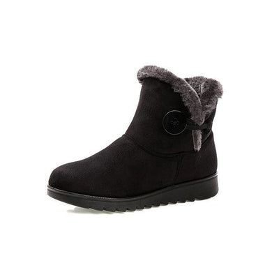Outlet Appeal black / 6 HEE GRAND Winter Women Boots Flock Warm Ankle Snow 2017 Slip On Button Creepers XWX1597