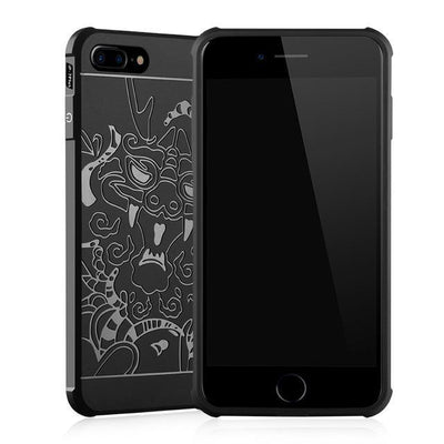 Outlet Appeal Black Case Pattern / For iPhone 7 ARTISOME Dragon Pattern Case For iPhone 7 Soft Silicone