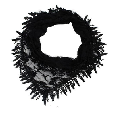 Outlet Appeal Black / China 135cm-175cm Women Lady Long Lace Rose Flower Triangular Mantilla Scarf Wrap Shawl bandana