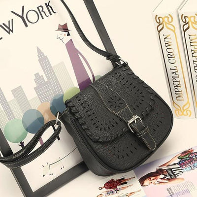 Outlet Appeal Black Handbags Fashion Women Leather Tote Handbag Satchel Hollow Out Bag Women Shoulder Bgs Crossbody