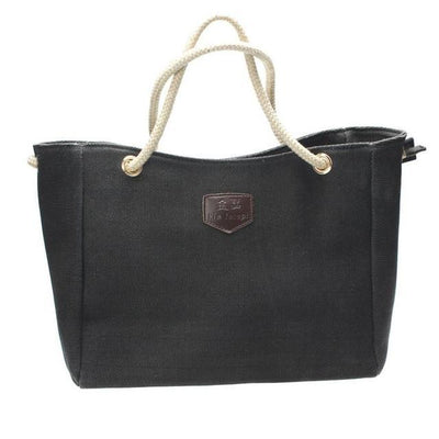 Outlet Appeal Black Japan Canvas Personality Contracted Bag Single Or Double Shoulder