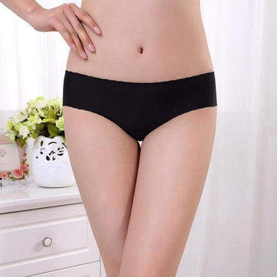 Outlet Appeal Black JECKSION Women Panties 2016 Hot Sexy Invisible Underwear Spandex Seamless Crotch