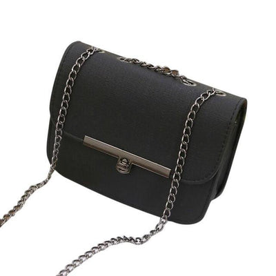Outlet Appeal Black Ladies Shoulder Messenger Bag Fashion Women Leather Chain Handbag Cross Body Bag