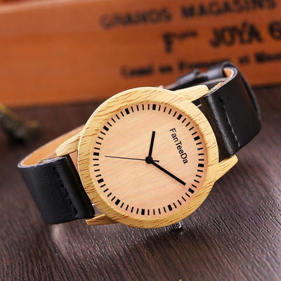Outlet Appeal Black Luxury Fashion Leather Band Analog Quartz Round Wrist Watch Watches