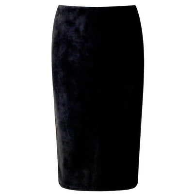 Outlet Appeal Black / M Women Suede Midi Pencil Skirts Causal High Waist Sexy Stretch Ladies Office Work Wear