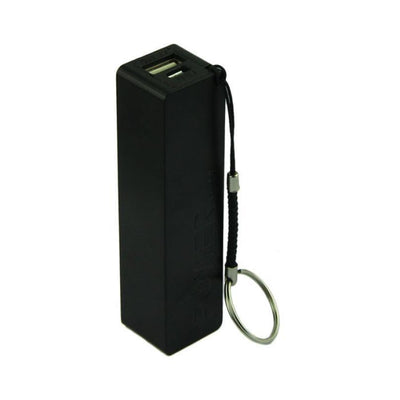 Outlet Appeal Black Portable Power Bank - External Backup Battery