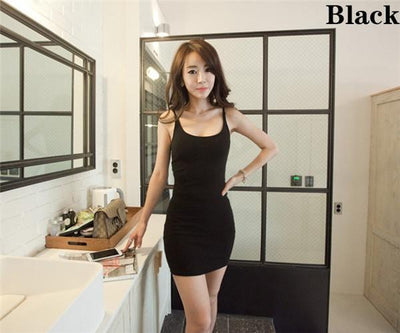 Outlet Appeal Black / S Basic Sleeveless Slim Backless Dress - 7 Colors - XS-5XL