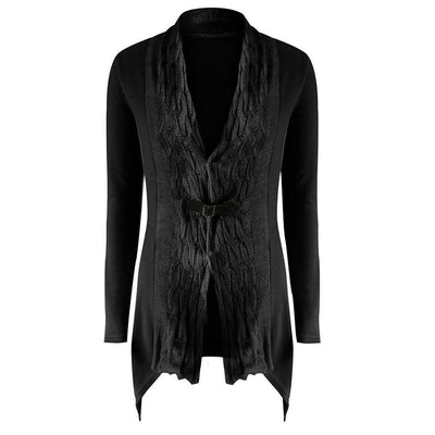 Outlet Appeal Black / S Women's Outwear Fashionable Cardigan Sweater Long Sleeves