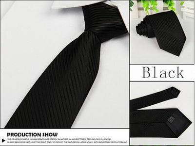 Outlet Appeal Black Solid 8cm slim ties men necktie Fashion Man Accessories For Party Business Formal lot