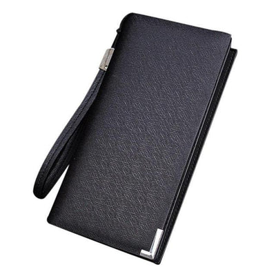 Outlet Appeal Black Synthetic Leather mens wallets and purses multifunction long wallet men Bi-Fold flip wallet