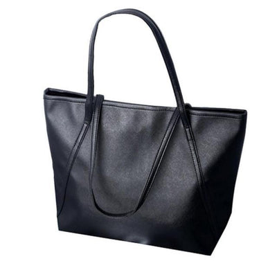 Outlet Appeal Black Women Messenger Bags Simple Winter Larger Capacity Tote Leather Women Bag