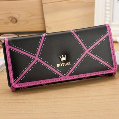 Outlet Appeal Black Women's Luxury Faux Leather Long Wallet Clutch Purse