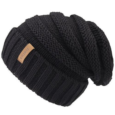 Outlet Appeal black Women's Winter Knitted Slouchy Beanie Hat