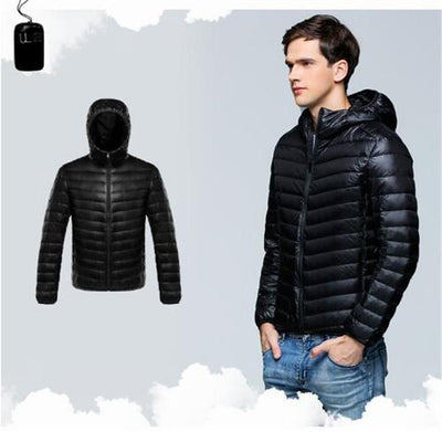 Outlet Appeal Black / XXL / China Men Duck Down Jacket Parka Winter Hooded Down Coat