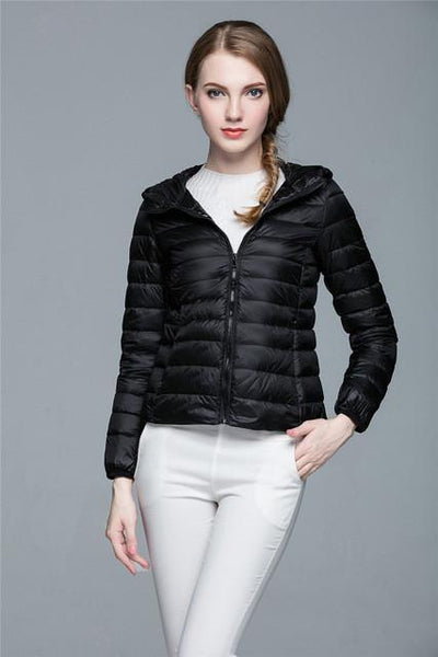 Outlet Appeal black / XXL / China Women Ultra Light Down Coat Outwear Jacket
